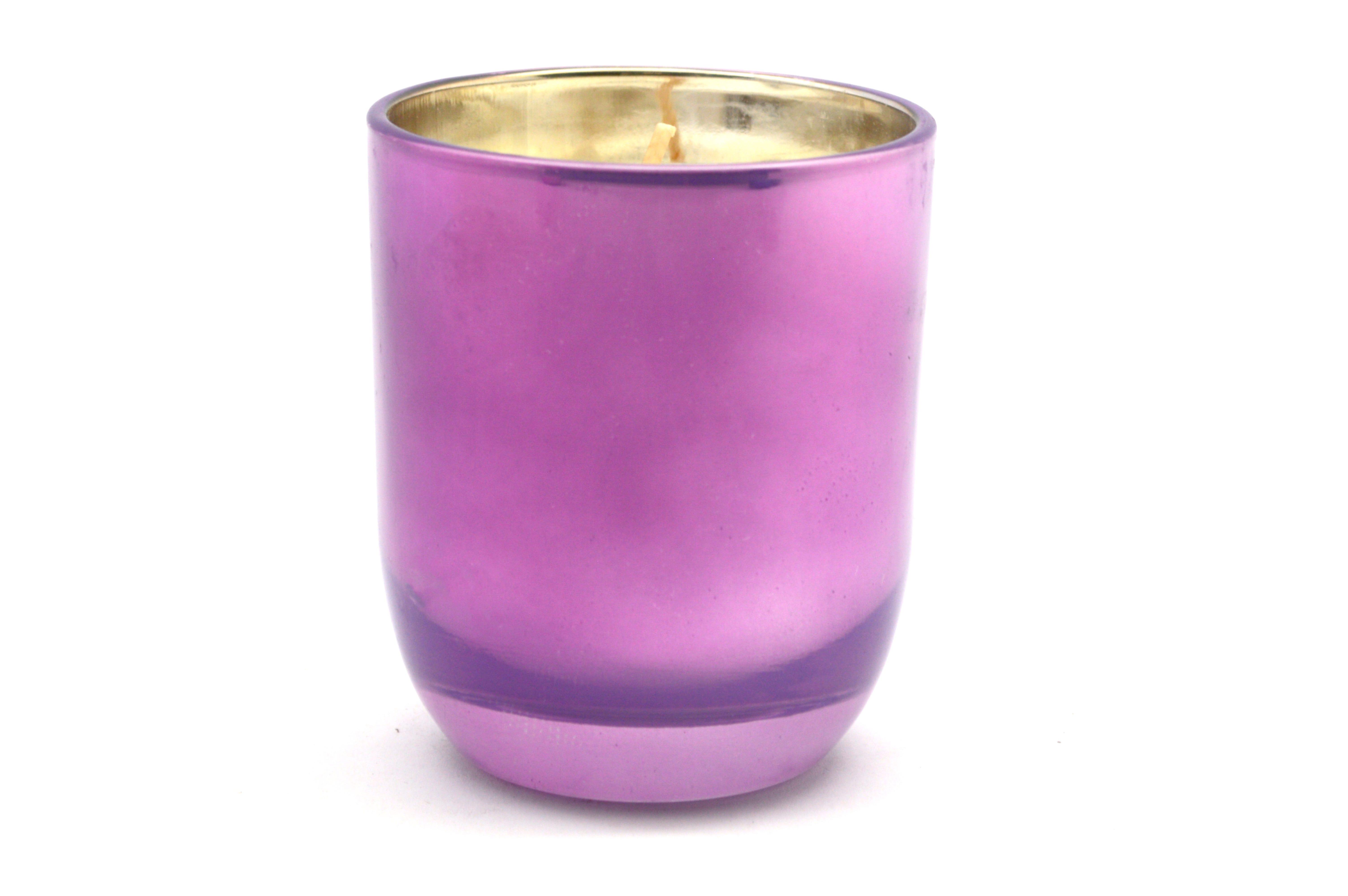 Vela en vaso Casa Mila Home Lifestyle aroma lavanda, 140 g en morado