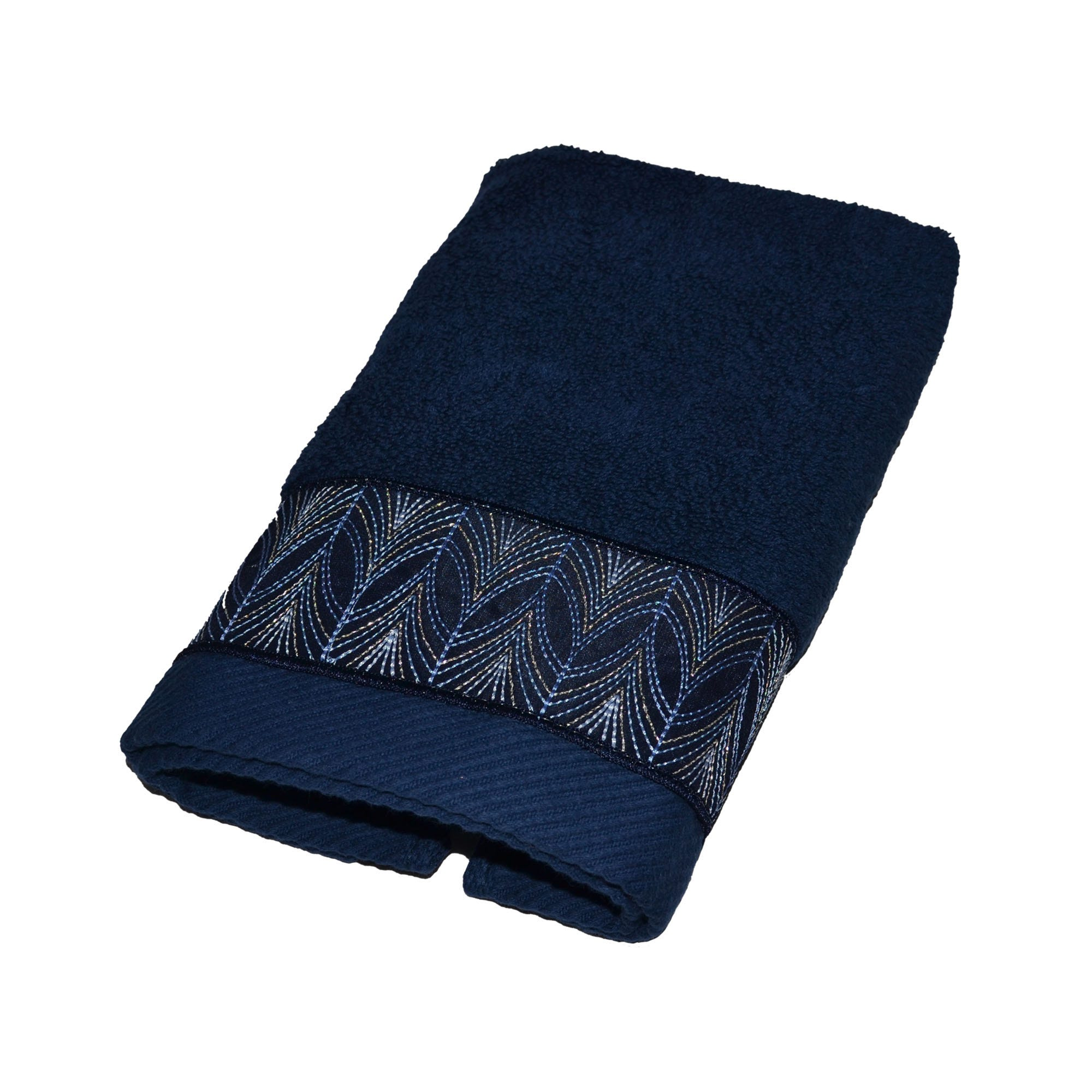 Toalla facial Gaba Calatea con bordado en azul