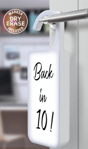 Merkury Innovations Colgante para puerta con luz LED en blanco