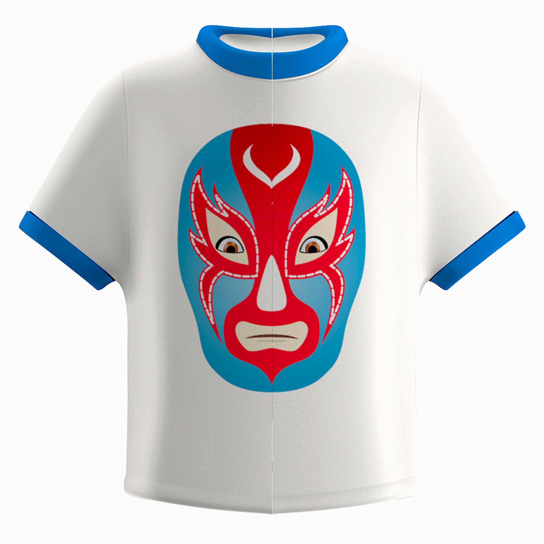 Portacepillo de dientes de plástico Flipper® con diseño de máscara de luchador